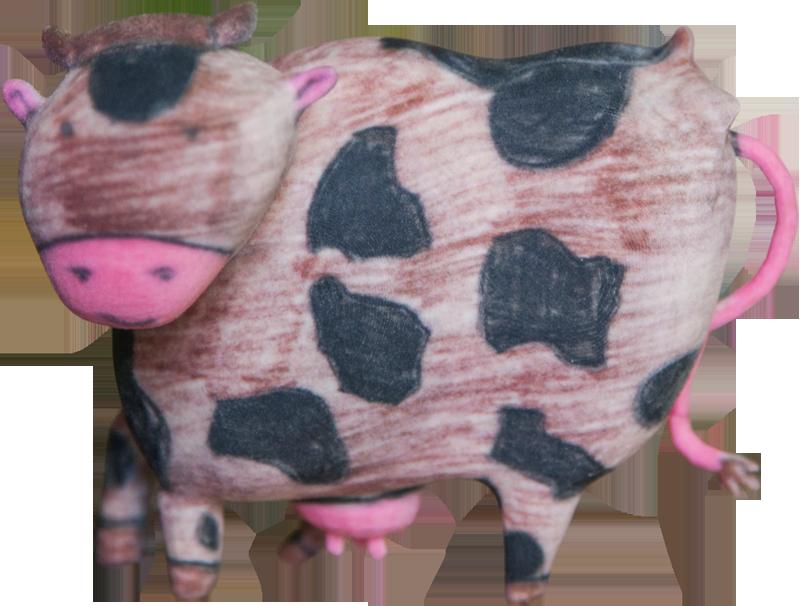 Mucca - - Scultura 3D realizzata partendo dal disegno di un bambino